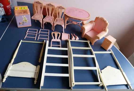 Lote Barbie Anos 80 Estrela Conjunto Casa Coleção Boneca Já