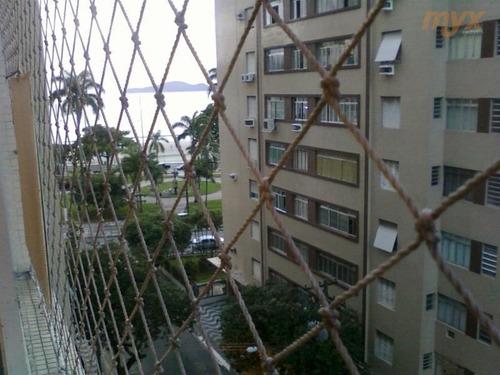 Apartamento Com 3 Dormitórios Para Alugar, 120 M² Por R$ 4.000,00/mês - Ponta Da Praia - Santos/sp - Ap1980