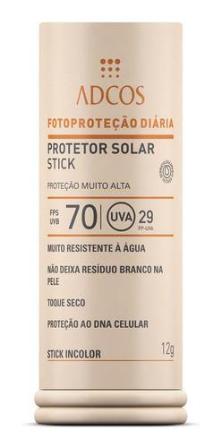 Imagem 1 de 1 de Adcos Filtro Solar Fps 70 - Incolor 12g