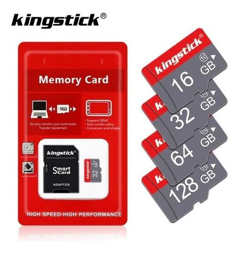 Imagem 1 de 2 de Cartão Memória Micro Sd 32 Gb Kingstick Classe 10 +adaptador