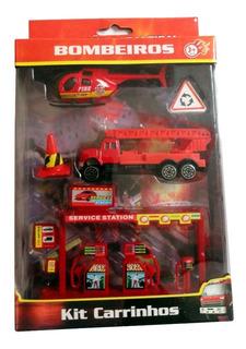Kit Carrinhos Miniatura - Bombeiros 5 Peças