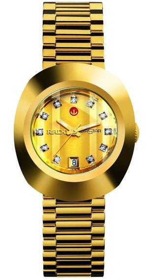 Reloj Rado Original Diastar Automático R12416633 Dorado Dama