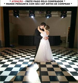 Tapete Xadrez - 4x4m - 16m² - 2 Peças De 2x4m Dj Festa Piso