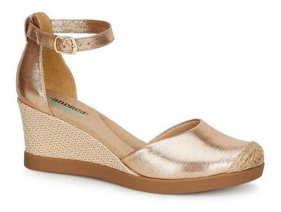 Zapatos Andrea Confort Oro Rosa Alpargatas 2603308 Mod. 8153
