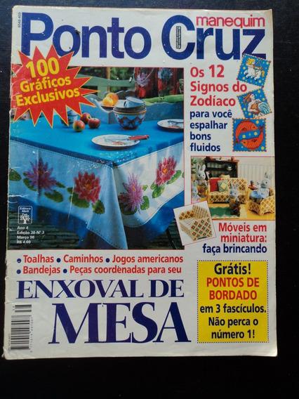 Lote C/04 Revistas Antigas Manequim-ponto Cruz-ed.abril