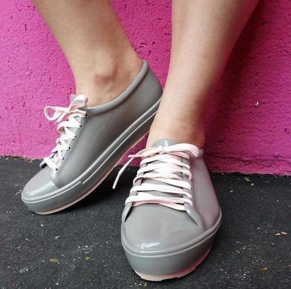 Oferta Diciembre! Zapatillas Melissa - Sneakers Be Grey/pink