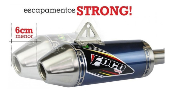 Escapamento Foco Racing Crf 230 Strong Inox Top - Oferta!!!