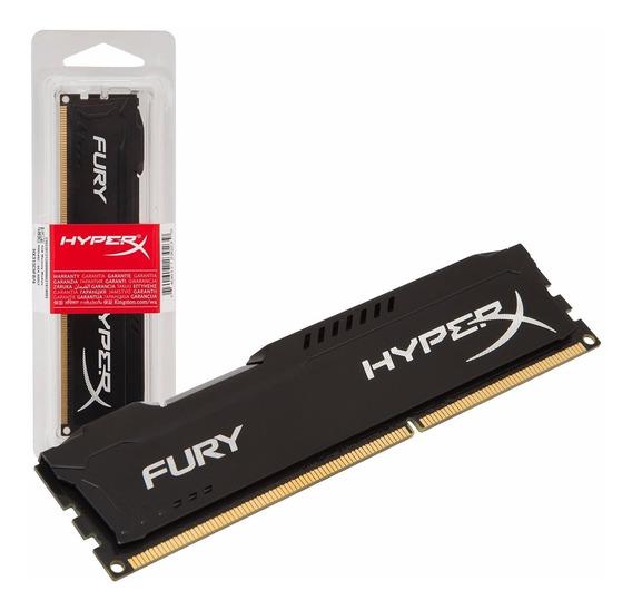 Memória 8gb Ddr3 1600mhz Kingston Hyperx Fury Hx316c10fb/8