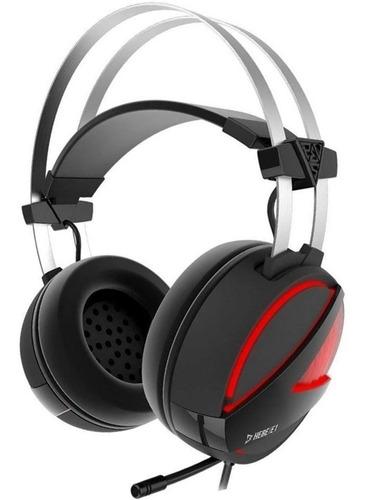 Headset Gamer Gamdias Hebe Usb Preto E1-rgb