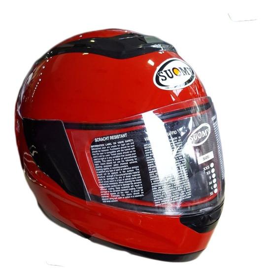 Casco Moto Integral Viaje Suomy Booster Rojo Motoscba O