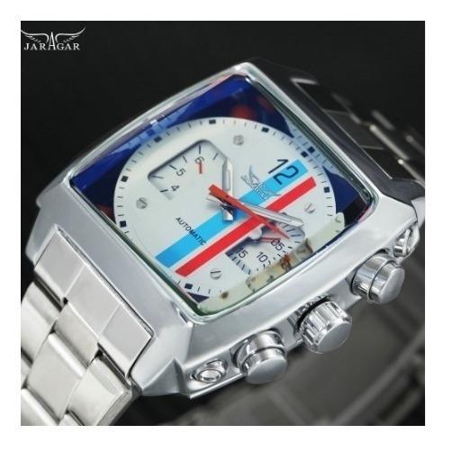 Relógio Luxo Jaragar Caixa Quadrada Promoção