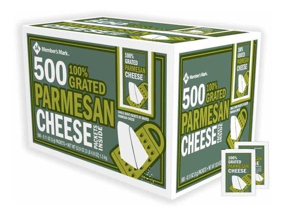 Queso Parmesano Members Mark Caja Con 500 Sobres