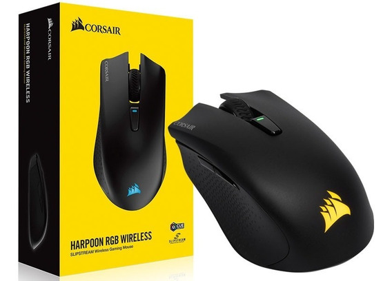 Mouse Gamer Corsair Ch-9311011-na Harpoon Rgb Wireless 10000 Dpi Optico Laser Preto