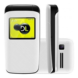 Lote 10 Celular Dl Yc330 Flip Dual Chip Rádio Branco Lacrado