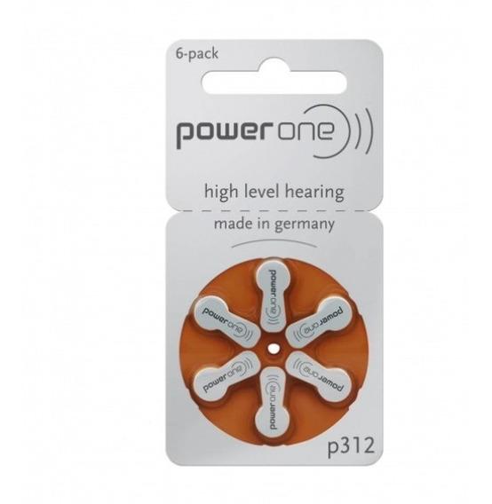 Pilha Para Aparelho Auditivo Power One 312 - 60 Unidades