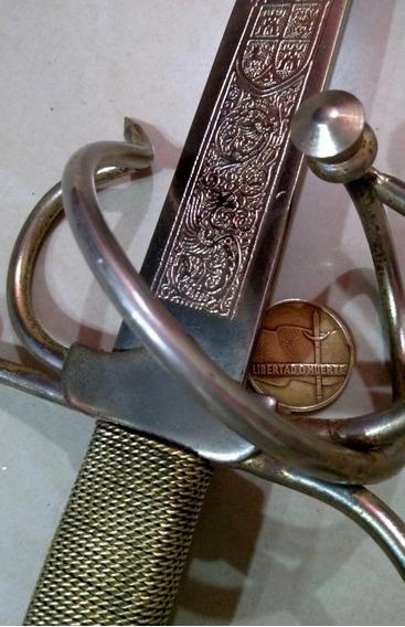 Antigua Espada Española Labrada Toledo. Sable Bayoneta. Daga