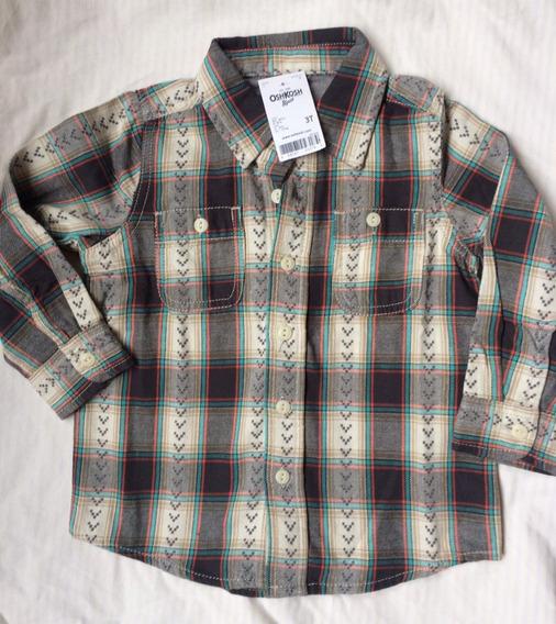 Camisa Nene Escocesa Oshkosh Talle 3