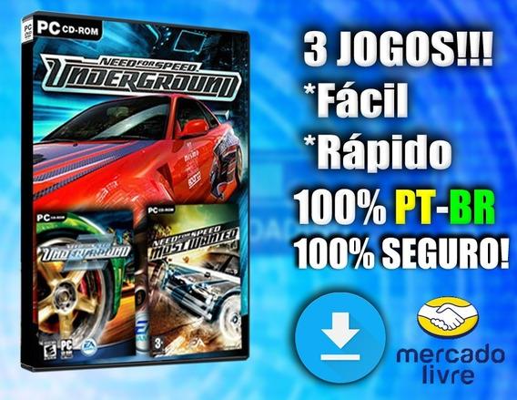 Need For Speed Underground 1 E 2 + Mw! Pc Mídia Digital!