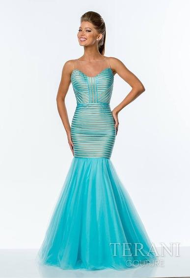 Vestido Longo De Festa Azul Celeste