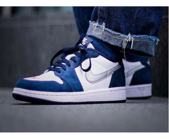 Tenis Nike Jordan 1 One Low Sb Midnight Originales Nuevo