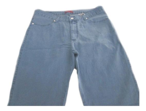 Calça Jeans Feminina Tradicional Com Elastano ( 48 A 56 )