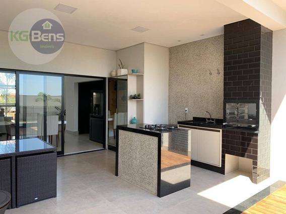 Casa Térrea Com 3 Suítes À Venda, 188 M² Por R$ 990.000 - Condomínio Terras Do Cancioneiro - Paulínia/sp - Ca0430