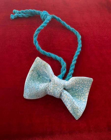 Colar Em Forma De Gravata De Cerâmica-antigo