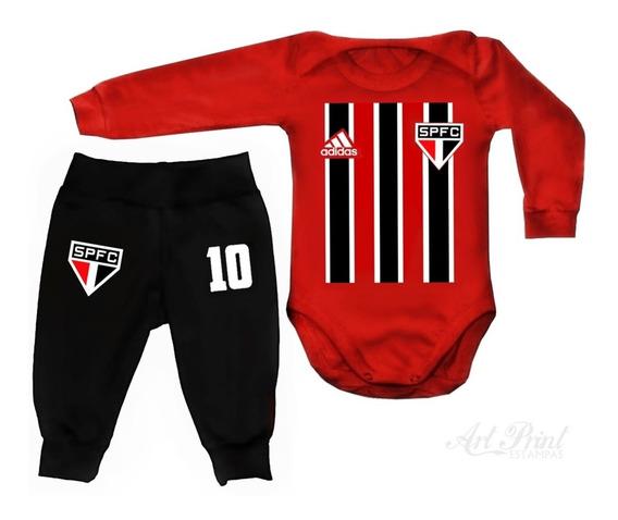 Conjunto Baby São Paulo C/ Nome Personalizado