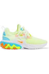 Nike React Presto Neon Suede And Rubber-trimmed Mesh Sneake