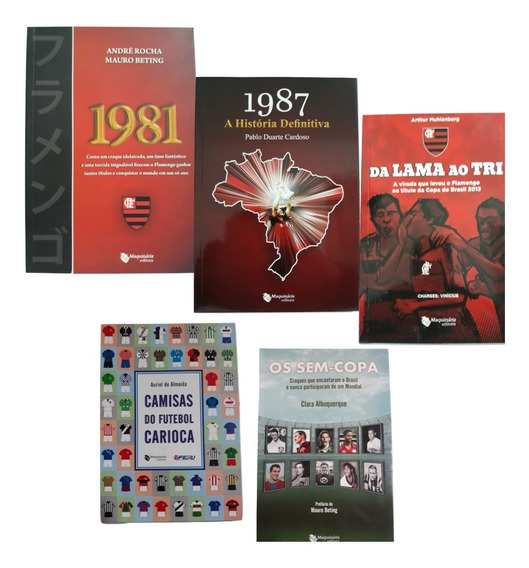 Kit 5 Livros Flamengo 1981, 1987, Títulos Camisas Ídolos