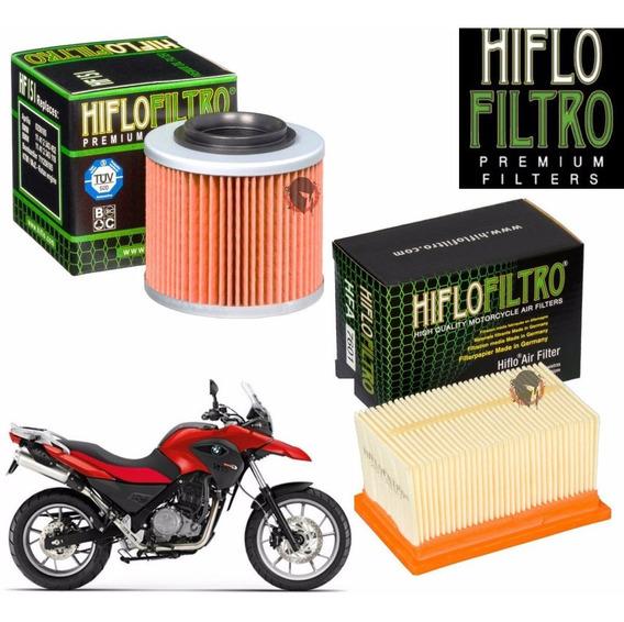 Combo Filtros De Óleo + E Ar Bmw G650 Gs Hiflo 151 7601