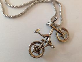 Colar Bicicleta - Banhado A Prata