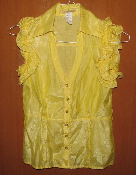 Blusa Amarilla Talla S Sin Mangas - Usada En Buen Estado