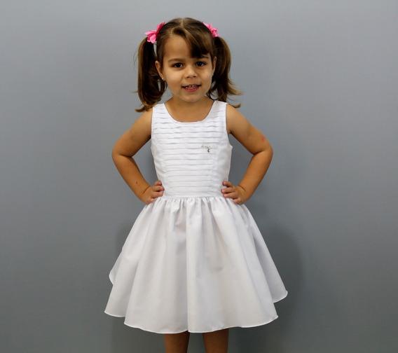 Vestido Batizado Infanto Juvenil Casamento Branco