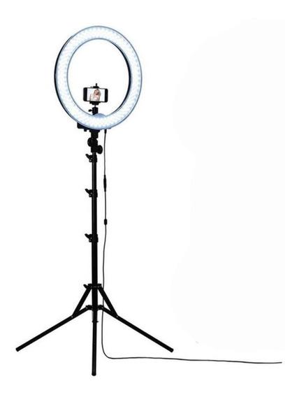 Iluminador Led Com Tripe Ring Light Usb 26cm 5500k