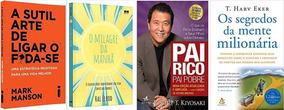 Pai Rico Pai Pobre + Segredos Da Mente Milionária + 2 Livros