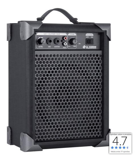 Caixa Caixa De Som Amplificada Guitarra Potente Lx40 Preto