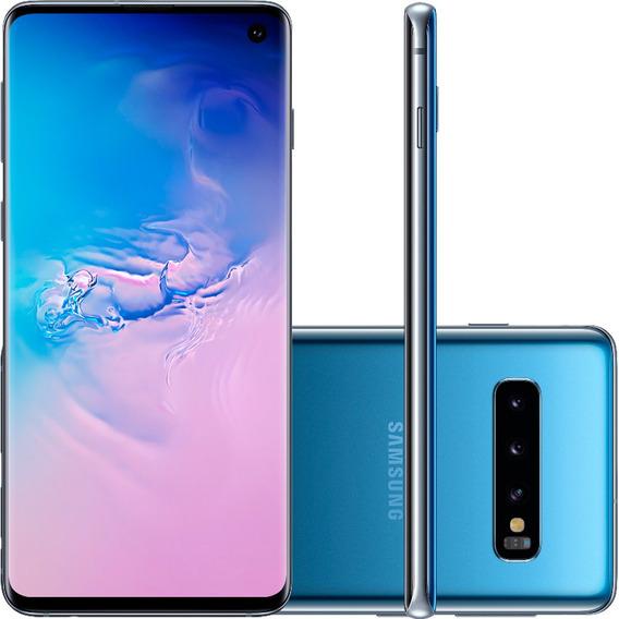 Celular Smartphone Samsung G973f Galaxy S 10 Azul Desb