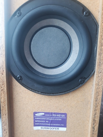 Home Theater Samsung Ps Rz120 6 Ohms Caixa Subwoofer