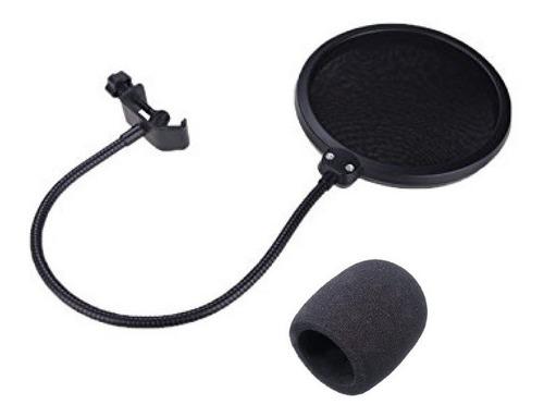 Pop Filter Anti Puff + Espuma De Globo De Microfone Kit