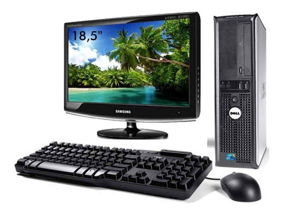 Cpu Dell Optiplex Core 2 Duo 4gb 320gb Wifi + Monitor 18,5