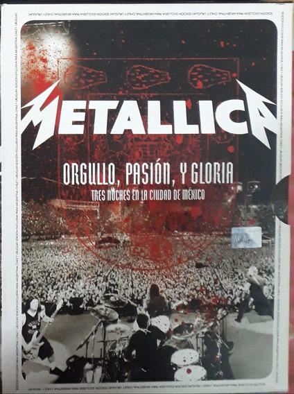 Metallica Orgullo, Pasion Y Gloria 2 Cds + 2 Dvds.
