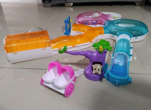 Imagen 1 de 10 de Zhu Zhu Pets House - Juego Casa Para Hamster Con Accesorios