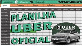 Planilha Para Motoristas Uber - 99 Pop - Cabify ( Oficial )