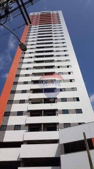 Apt 4 Qtos (3 Suítes), 3 Vagas À Venda, 107 M² Por R$ 615.000 - Tamarineira - Recife/pe - Ap1431