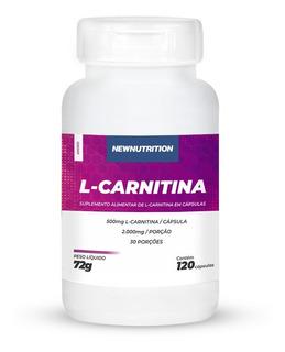 L-carnitina 500mg 120 Cápsulas Newnutrition