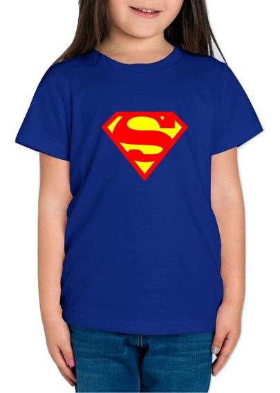 Playera Superman Super Man Niña