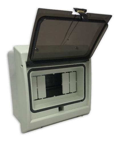 Imagen 1 de 10 de Caja Térmicas Embutir / Exterior 6 Módulos Ip65 Tapa Fume