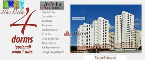 Apartamento Com 4 Dormitórios À Venda, 103 M² Por R$ 470.000,00 - Parque Industrial - São José Dos Campos/sp - Ap0256