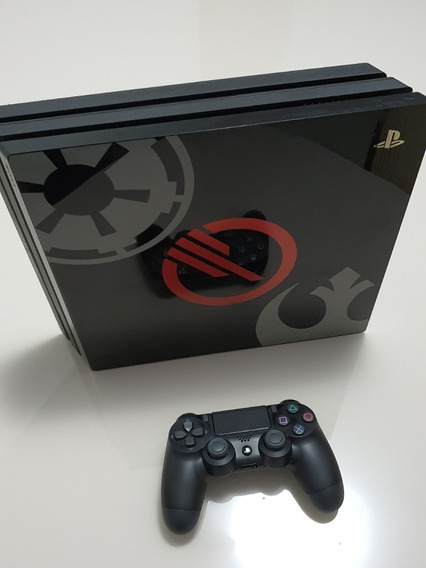 Console Playstation Ps4 Pro Star Wars 2 Controles Originais!